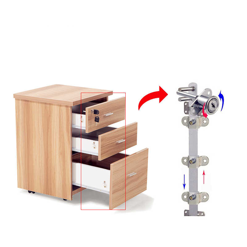 Desk Mobile Chest Of Drawers Three Chest Of Drawers Low Cabinet Document Storage Movable Cabinet Floor Type Mobile Belt Lock