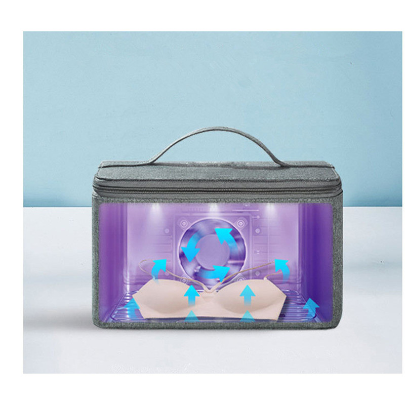 Sterilization Bags Multifunctional UVC Ultraviolet Disinfection Handbag Baby Bottle/Toy Sterilization Bags Cellphone Sterilizer