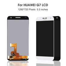 5.5'' For Huawei Ascend G7 LCD Display+Touch Screen With Frame Assembly 100% New G7-UL20 Digitizer Replacement For Huawei G7 4 6original for sony xperia z3 compact lcd touch screen digitizer assembly for sony z3 mini display with frame replacement z3c