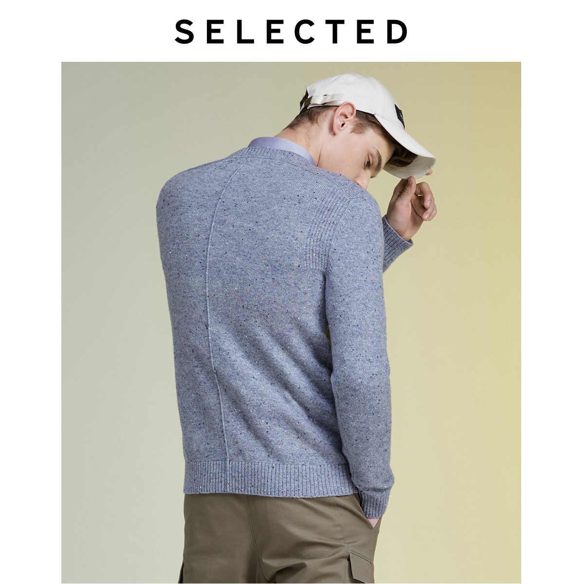 เลือกฤดูหนาว Wool-Blend Pullover เสื้อกันหนาวชายรอบคอถักเสื้อผ้า LAB   419425510