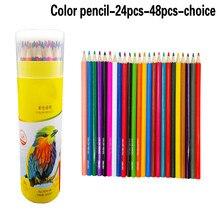 Lápis de cor não-tóxico lápis de cor lápis de cor para crianças da escola marco 24 novo macio na moda pastel cores lápis andstal