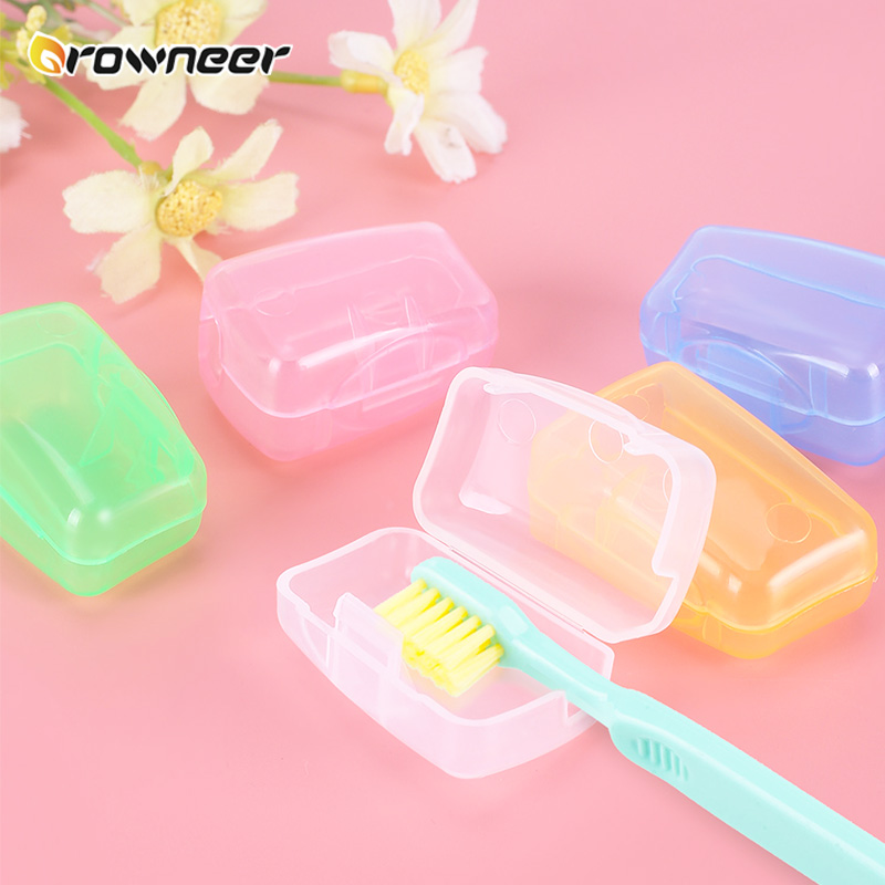 5 Pcs Toothbrush Protective Sleeve Food Grade PP Portable Toothbrush Cover Light Practical Travel Hiking CampingToothbrush Cap image
