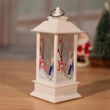 Рождественские свечи с светодиодный Чай светильник свечи для рождественские украшения вечерние Рождественский светодиодный украшения светодиодный светильник рождественские огни