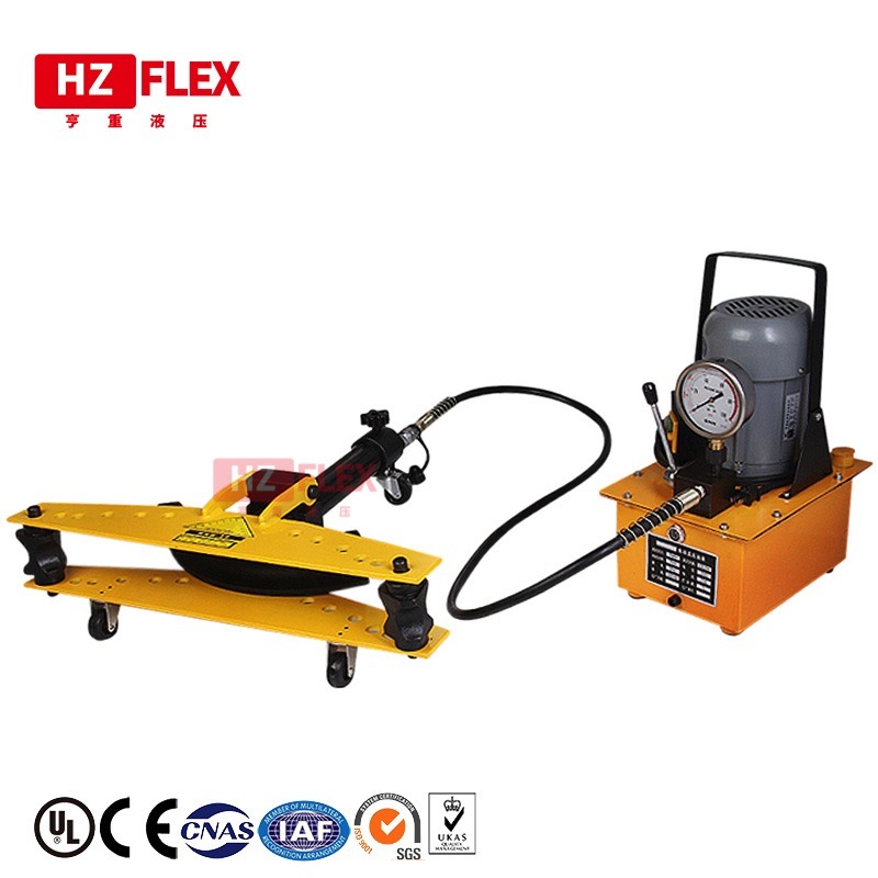 220v 0.75kw hydraulic Pipe <font><b>Bender</b></font> Electric Bending Machine All-inclusive Bendable round <font><b>tube</b></font> with 8 sets of dies image
