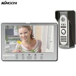 Kkmoon visual intercom campainha 7 tft tft tft lcd com fio sistema de telefone da porta vídeo monitor interno 700tvl ao ar livre ir câmera apoio desbloquear
