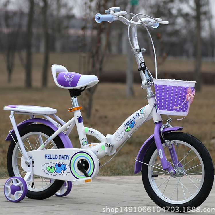 Multifunctional Children Easy Folding Bicycle 12 Inch Baby Bicycle Bicycle Stroller Rode Bicycle