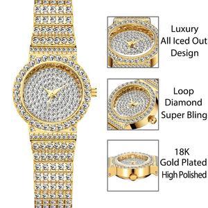 Image 2 - MISSFOX маленькие женские часы s, уникальные товары, роскошные брендовые часы с бриллиантами, женские водонепроницаемые аналоговые 18K золотые классические часы со льдом