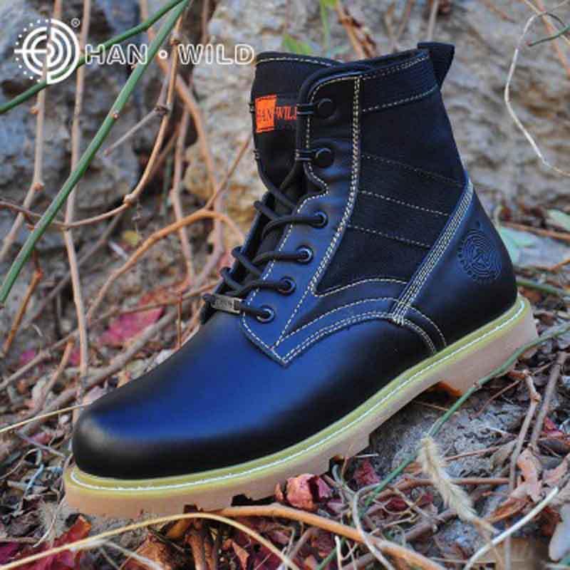 Cross Border Combat Boots Outdoor Tactical Shoes Mid-top Martin Boots Men's Delta Tactical Boots Magnum Army Fans Boots