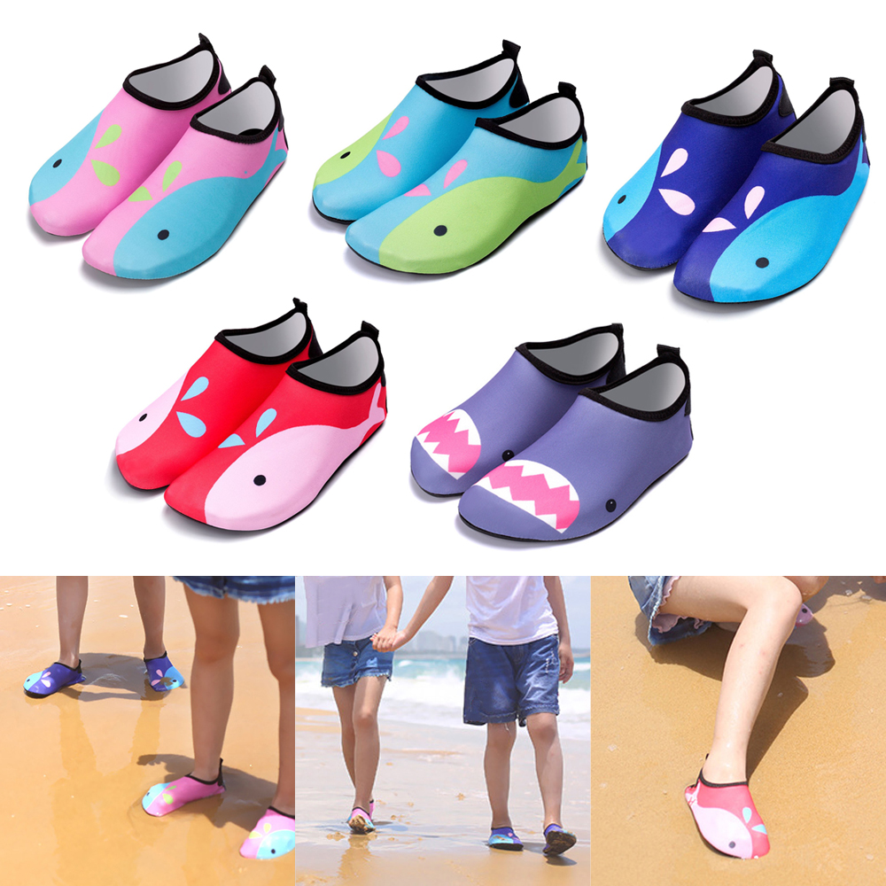 Water Shoes Kids Barefoot Quick-Dry Aqua Yoga Socks Boys Girls Animal Soft Diving Wading Shoes Beach Swimming Shoes
