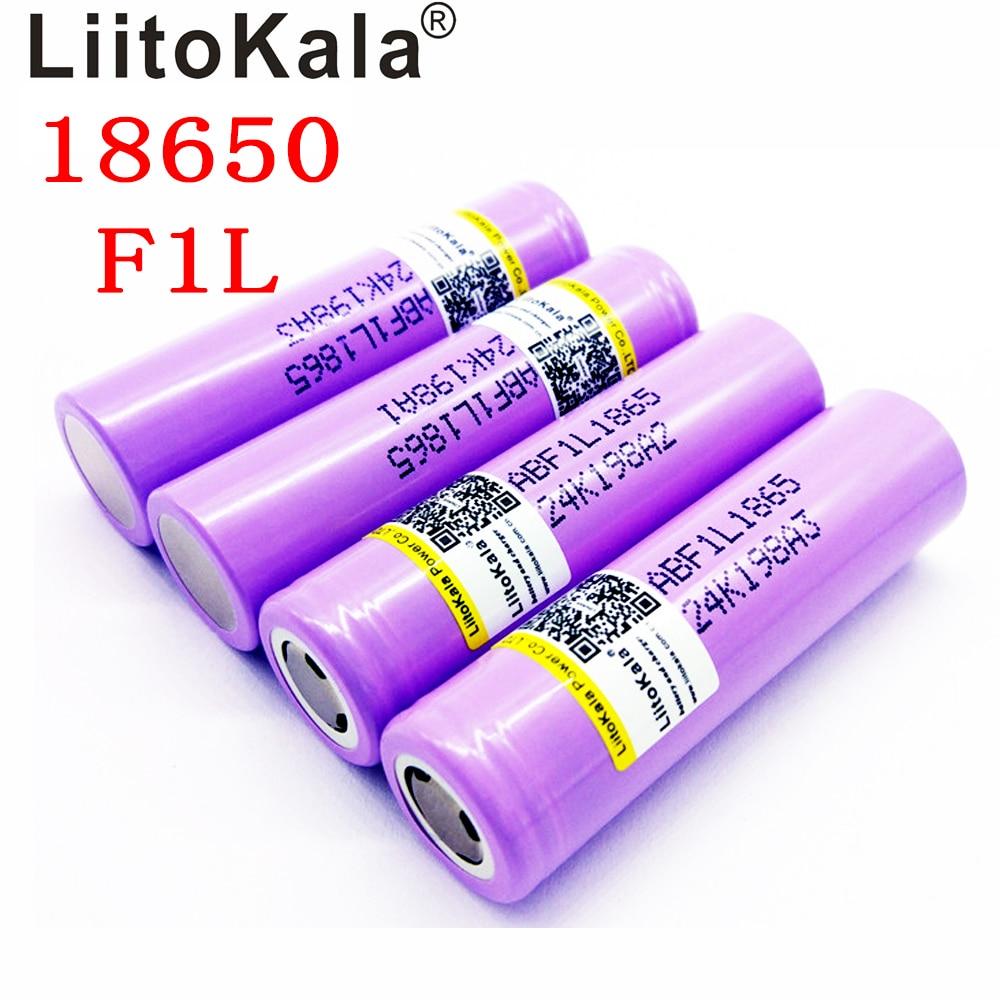 NEW Liitokala Lii-F1L Original 3.6V 18650 INR18650 F1L 3000mah 3350mAh 3400mah 4.2V Cut Off Rechargeable Battery