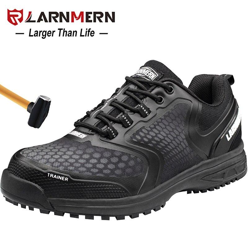 LARNMERN الرجال حذاء امن للعمل الصلب اصبع القدم تنفس مكافحة تحطيم مكافحة ثقب عدم الانزلاق البناء الأحذية الواقية-في أحذية العمل والسلامة من أحذية على  مجموعة 1