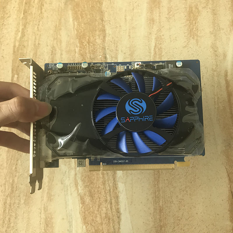 Used SAPPHIRE HD7730 1GB For AMD Video Card GPU Radeon HD 7730 GDDR5 128bit Graphics Cards PC Computer Game For Video Cards HDMI 3