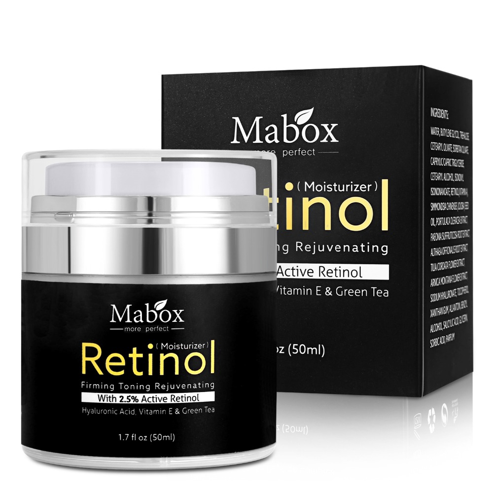 MABOX Retinol 2.5 Moisturizer Face Cream Hyaluronic Acid Hydrating Moisturizing HA Cream Whitening Cream Anti-aging Anti-wrinkle