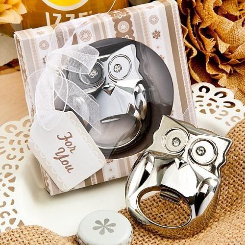 20pcs/Lot Owl Style Bottle Opener Stainless-Steel Owl Bottle Opener Wedding Favors Party Souvenir Wholesale Bottle Opener Gift