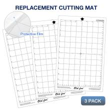 3Pcs Replacement Cutting Mat Transparent Adhesive with Measuring Grid 8 by 12-Inch for Silhouette Cameo Plotter Machine