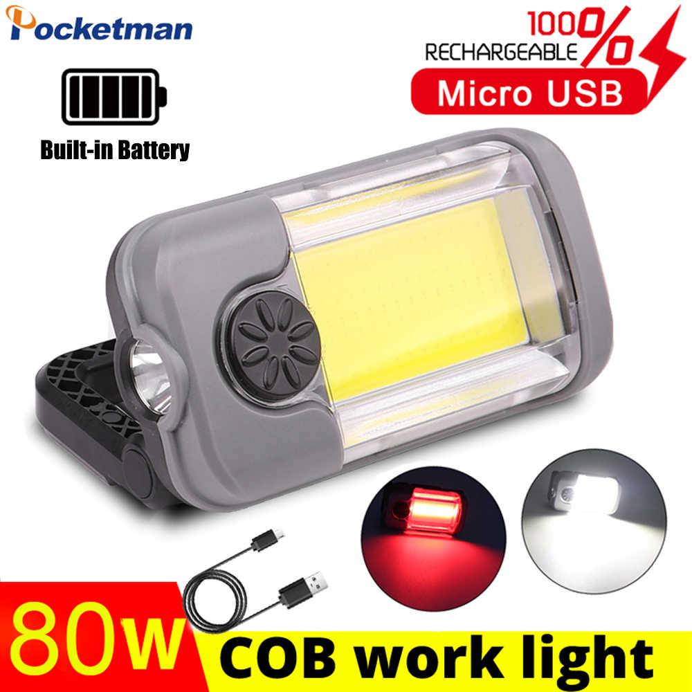 COB LED KFZ Arbeitslicht Wiederaufladbare AKKU Taschenlampe magnet Notfall Licht