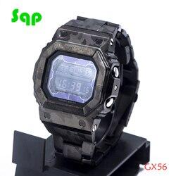 Neue Ankunft GX56 Edelstahl Schwarz Camouflage Uhr Set Armband Lünette/Fall Metall