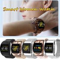 Relógio inteligente feminino lembrete de fitness à prova dwaterproof água freqüência cardíaca monitor sono curvo grande tela remoto destacável cinta casal relógio
