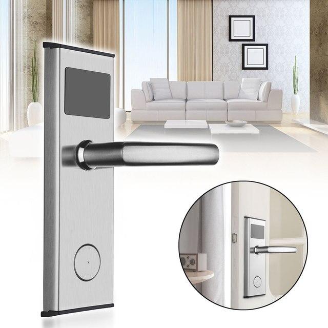 Electronic Security Digital Card Lock Stainless Steel Smart Alarm Digital Home Hotel Door Lock Password System