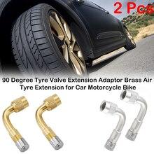 цена на 90 degree Brass Air Tyre Valve Extension Car Motorcycle Tire Tyre Valve Extension Adapter Wheel Tire Stem Extender Accessories