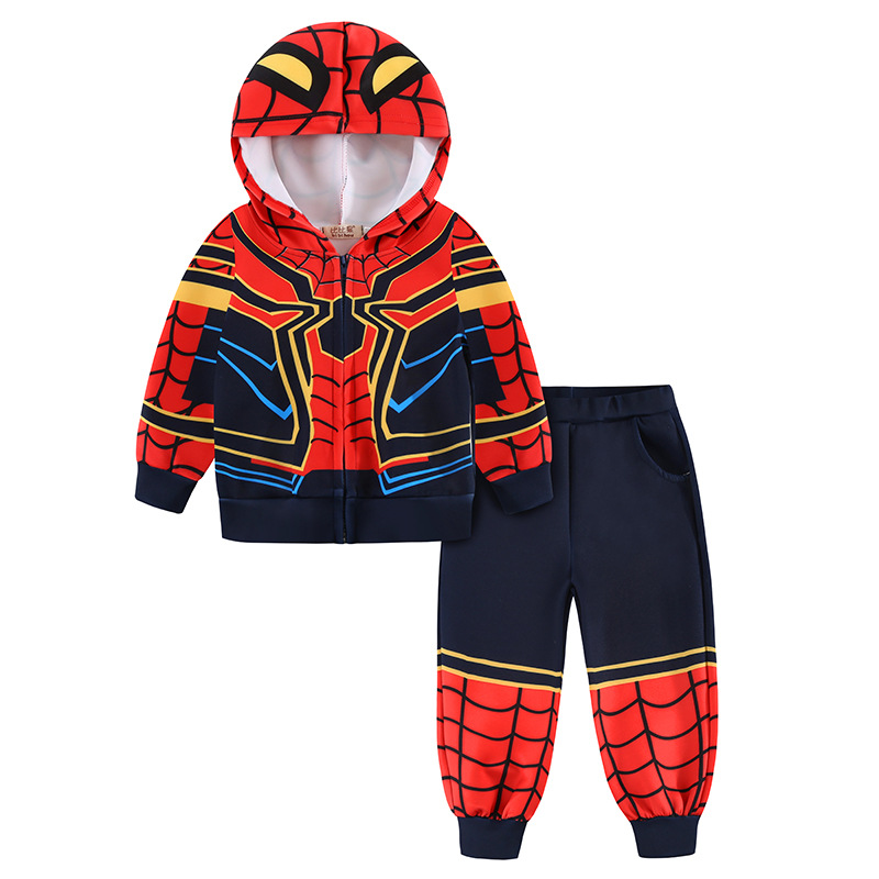 CNJiaYun Spiderman Baby Boys Clothing Sets Sport Suit For Boys Clothes Spring