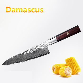 LUOKESI Damascus steel VG10 kitchen knife chef slice fruit and vegetable meat cleaver kitchen multi-purpose kitchen knife