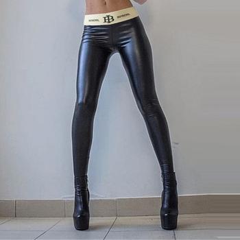 Jesień nowy kobiety PU ołówek spodnie Plus rozmiar czarny Push Up Hip list skórzane legginsy zagęszczony Skinny wysoka talia Slim spodnie tanie i dobre opinie YEJABOR Pełnej długości Faux leather PU Pants Na co dzień Elastyczny pas Mieszkanie NONE