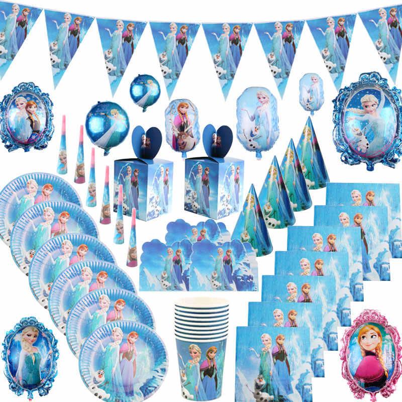 Desenhos animados congelados disney party suprimentos festa de aniversário natal descartáveis utensílios de mesa decoração para chá de bebê