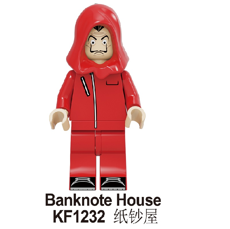 Single Sale Building Blocks Famous Suspense Movie Banknote House Money Heist Character Retired Killer Figures Toys KF1232 image