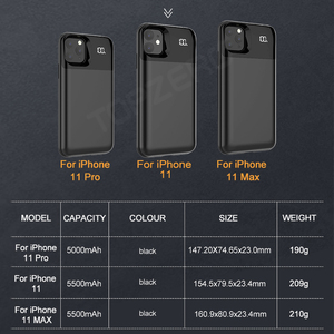 Image 5 - Battery Case For iPhone 11 Pro Max Digital Display Magnetic Charge Powerbank Case Battery Charger Case Power Bank For iPhone XS
