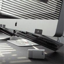 Container Transparent-Trapezoid Ruler-Organizer Pen-Holder Pencil Storage-Cup 2-Pcs Creative