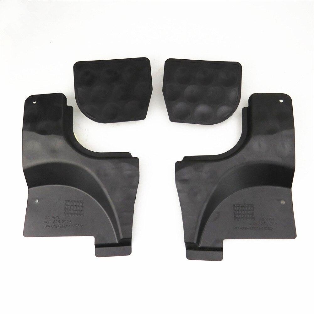 Readxt novo carro l & r piso inferior trilhos pan respingo escudo capa & bloco de bloqueio até calcadeira peças para passat b6 b7 cc nf 3c0825962