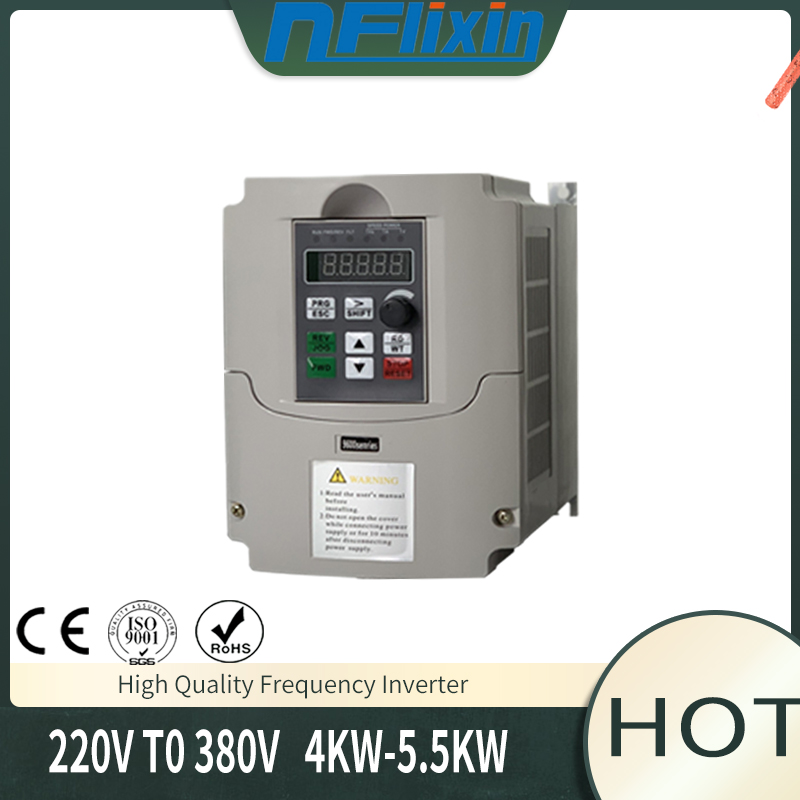 <font><b>Inverter</b></font> 4KW <font><b>220</b></font> into 380 out single phase 220V household electric input Three-phase 380V output image