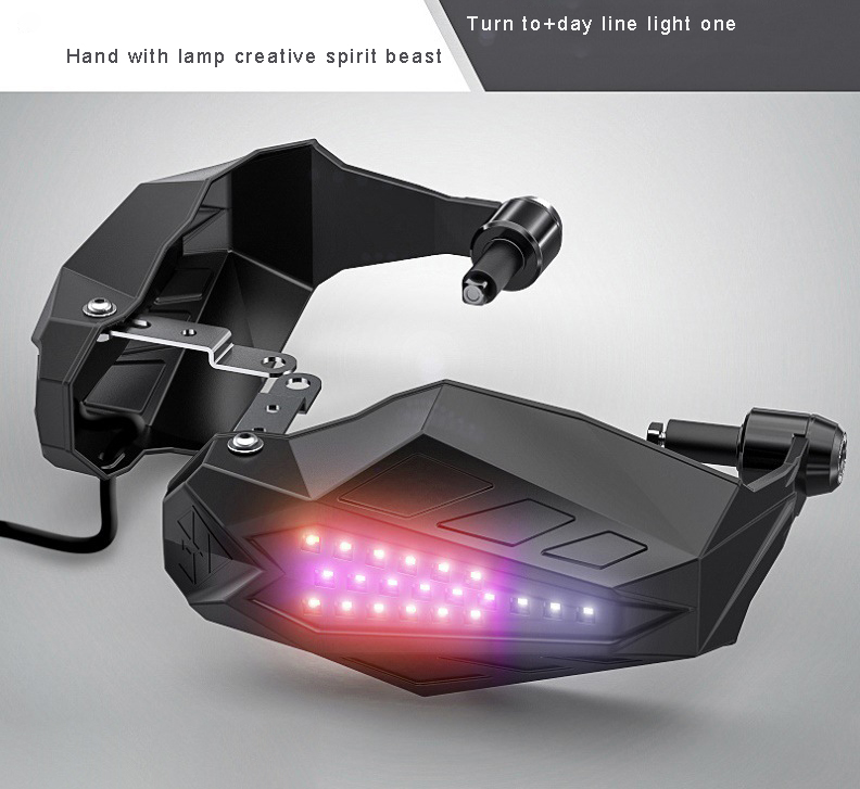 Motorcycle Windproof handguards Glowing Accessories For honda shadow vt750 honda transalp <font><b>ninja</b></font> <font><b>650</b></font> <font><b>kawasaki</b></font> yamaha blaster image