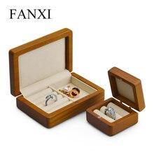 Fanxi ювелирный дисплей деревянное кольцо Органайзер Чехол Коробка