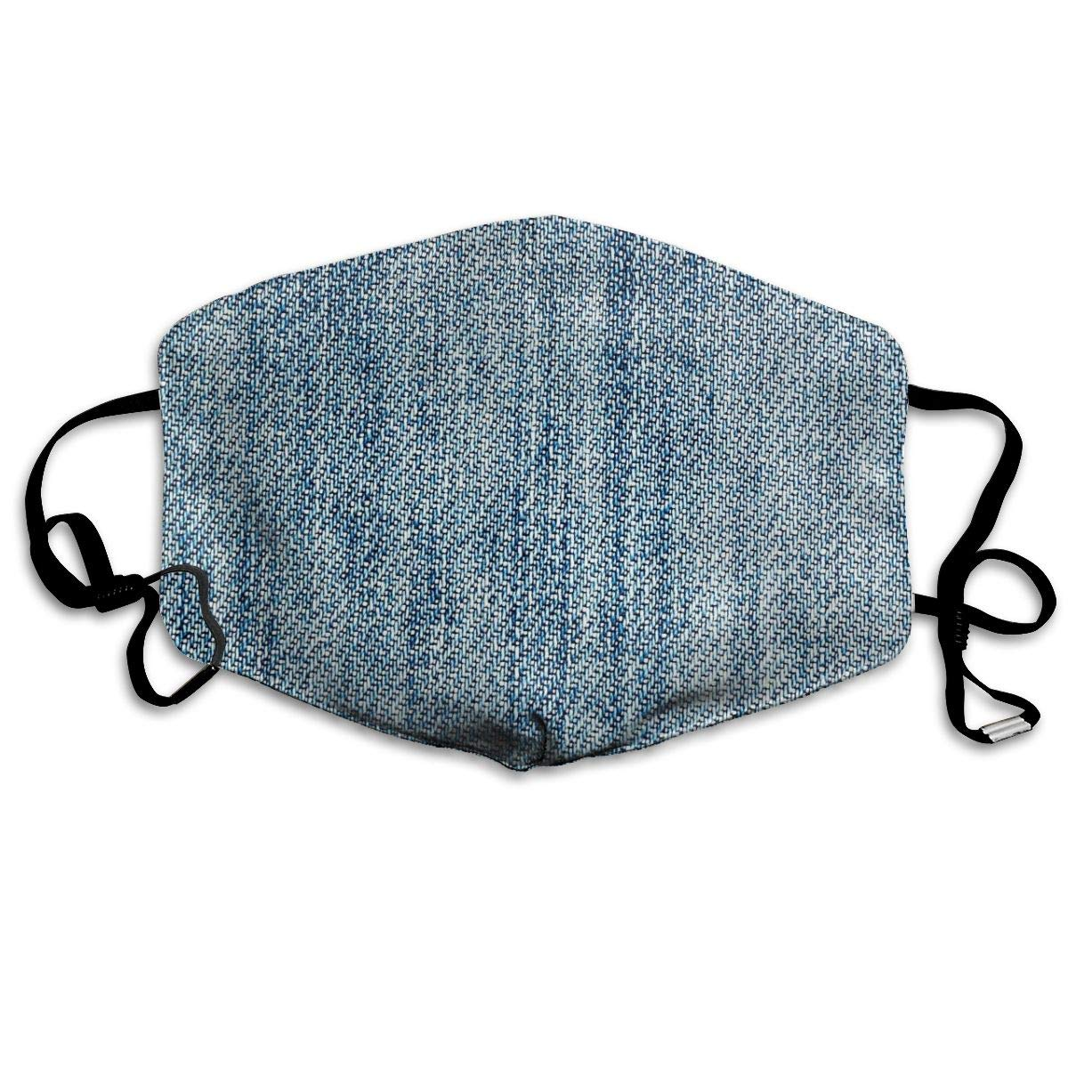 Mouth Mask For Daily Dress Up, Jeans Pattern Anti-dust Mouth-Muffle, Washable Reusable Holiday Half Face Masks For Mens And