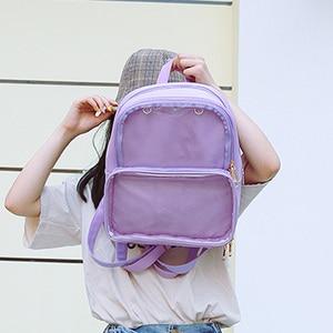 Image 4 - Novas mochilas femininas mochilas transparentes sacos de estudante doces claro mochilas moda ita sacos para meninas bonito estudante sacos