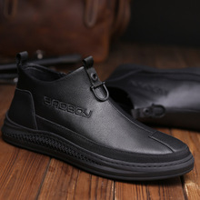 2020 Male Chelsea Boots Ankle Boots Men Pointed Toe Autumn Winter Ankle Boots Oxford Dress Shoes Male Big Size 38-45 high quality brand pointed toe chelsea boots genuine leather men ankle boots business office banquet fashion big size shoes