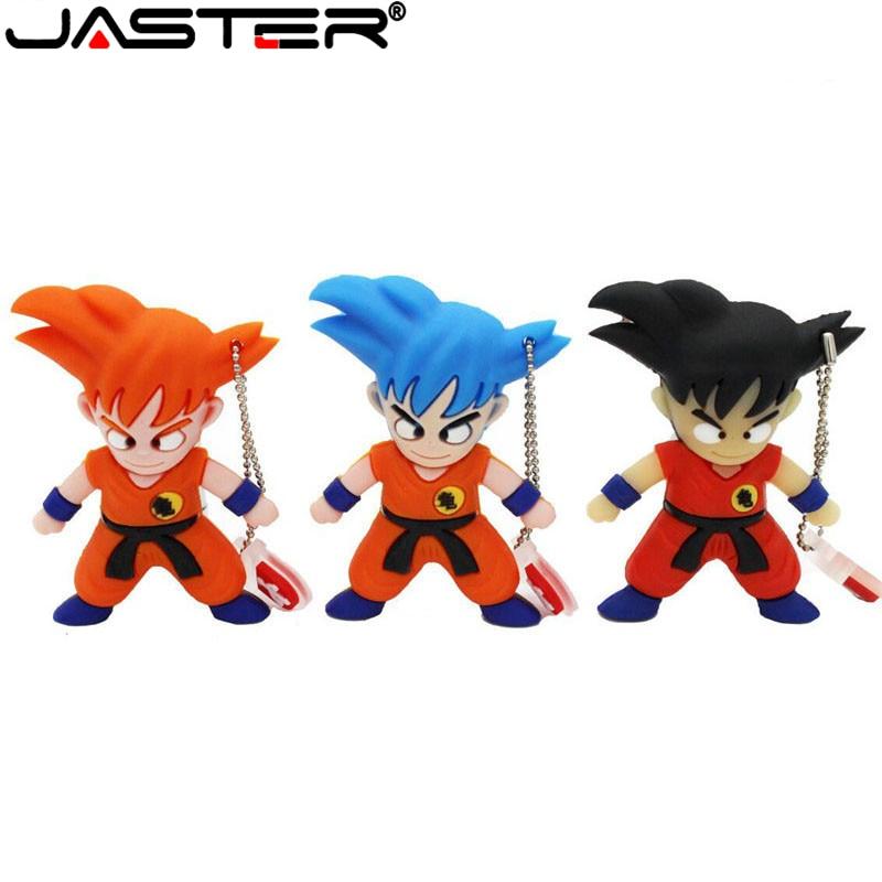 JASTER Cartoon 64gb Pen Drive 4GB 8GB 32GB 64GB Cartoon Dragon Ball Goku Kuririn U Disck Pendrive 16gb Usb Flash Drive