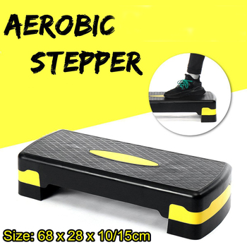 Exercise stepper elliptical trainer running machine Walkingpad fitness aerobic step platform Workout stepper treadmill pedal aerobics trainer home gym fitness workout system adjustable aerobic platform cushion top 4 risers