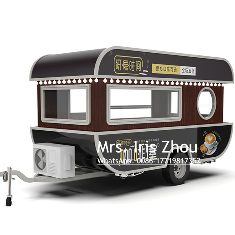 Customized Electric Food Truck Mobile Food Cart Fast Food Trailer Kitchen Trailer/ Vans/ Shopping Carts