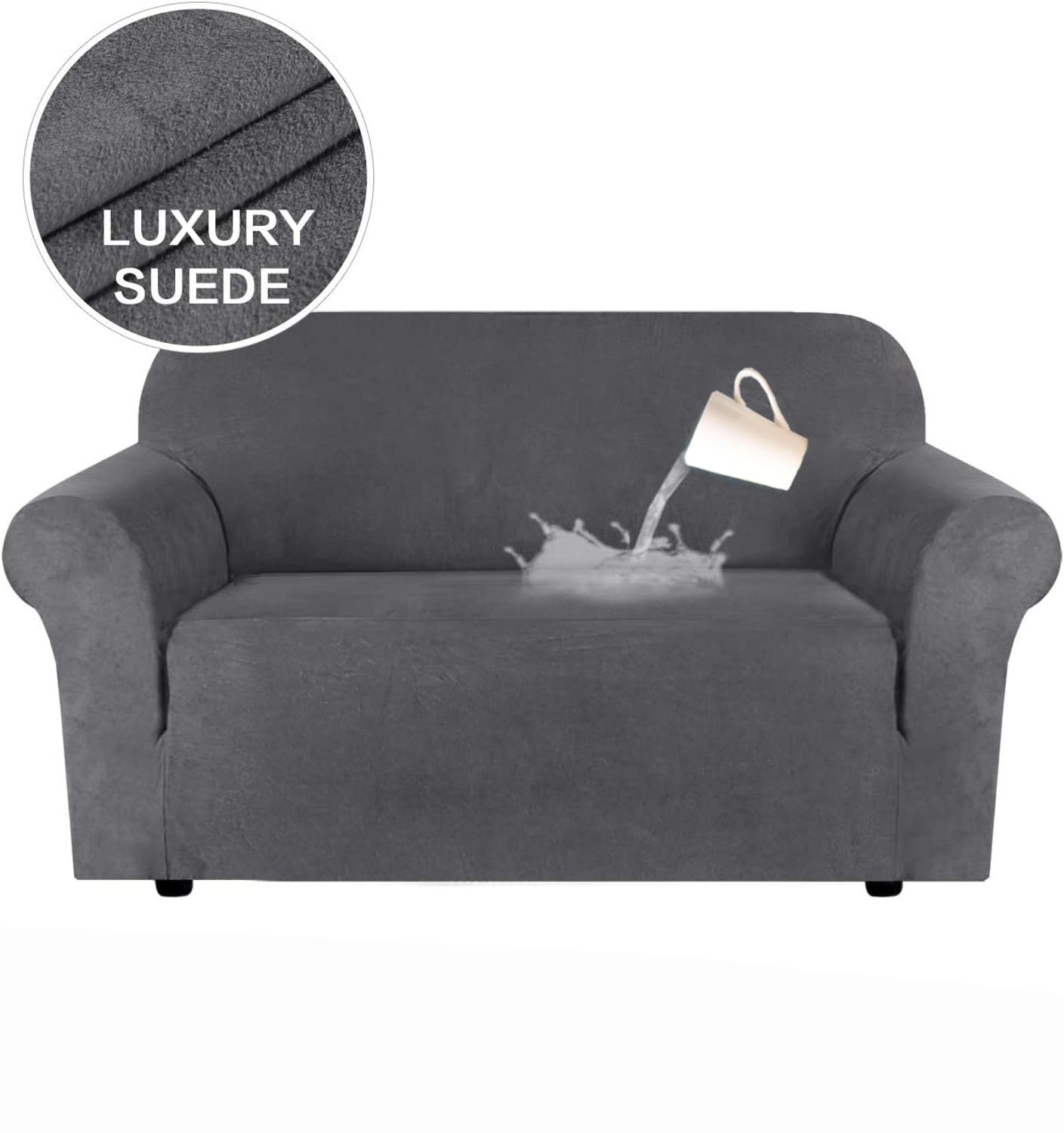 Suede Fabric Chair Cover Sofa Slipcover