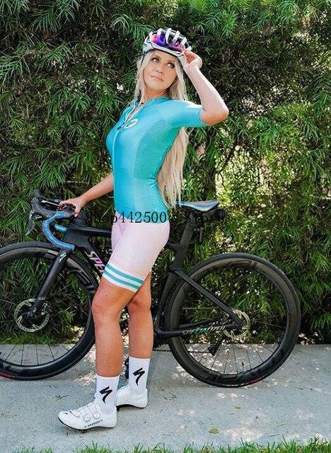 2020 pro equipe triathlon terno de manga curta das mulheres camisa ciclismo skinsuit macacão maillot ciclismo ropa ciclismo conjunto gel 4