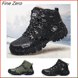 Botas de inverno botas de neve de inverno botas de neve à prova dwaterproof água homem super quente botas de neve rendas até homens botas de tornozelo ao ar livre sapatos de tênis de outono
