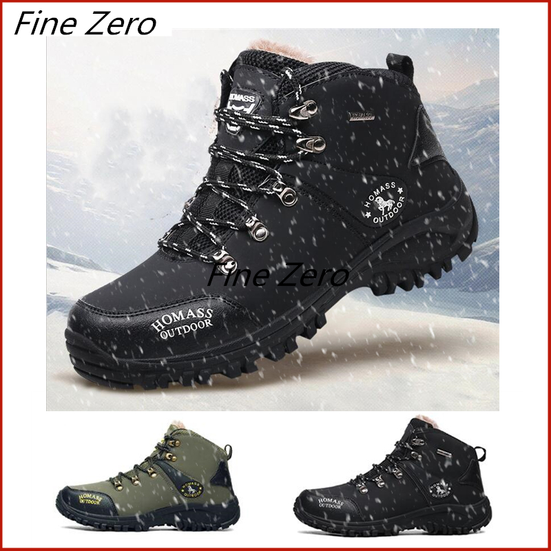 Winter Men Boots Men Winter Snow Boots Waterproof Men Super Warm Snow Boots Lace Up Men Ankle Boots Outdoor Autumn Sneaker Shoes