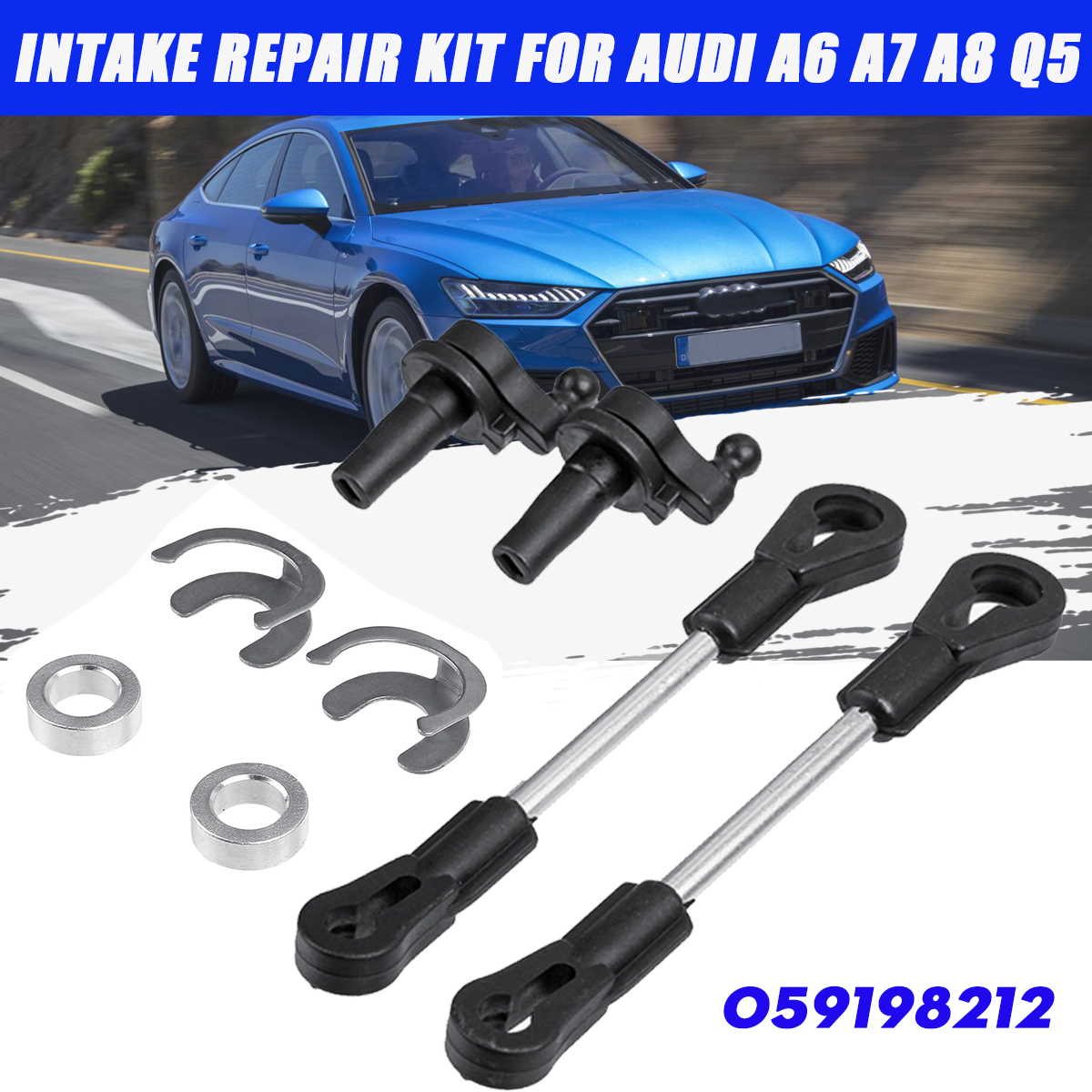 059198212 Intake Manifold Swirl Flap Repair Kit For Audi A4 A5 A6 A7 A8 Q5 Q7 2.7 3.0 TDI 059198212