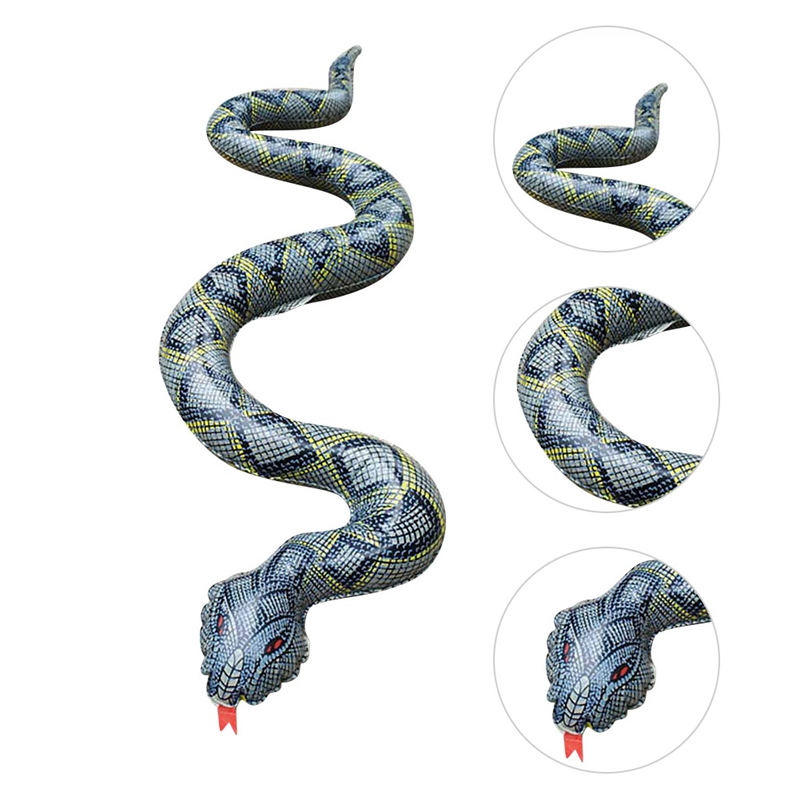 2019 Hot 120CM Scary Snake Toy Lifelike PVC Snake Shape Inflatable Toys Hollaween Joke Toys Funny Gift Products
