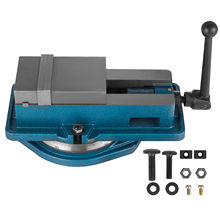 Milling Vise 4 Inch,Bench Clamp Vise High Precision Clamping,Mill Vise Ductile Iron Material with 360 Degree Swiveling Base