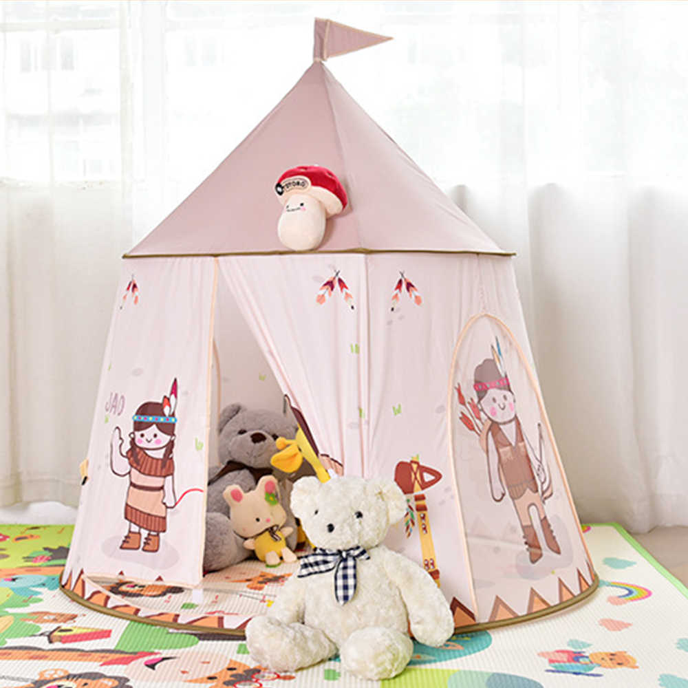 Carpa portátil para niños de 123x116cm, carpa para niños, carpa para juegos Wigwam, piscina seca con bolas, Tipi para cumpleaños, regalo de Navidad