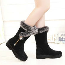 Womens Snow Boots 2019 new Ladies Winter New Shoes Warm In The Tube Cotton Boot